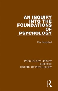 Cover Inquiry into the Foundations of Psychology