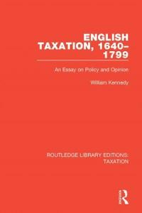 Cover English Taxation, 1640-1799