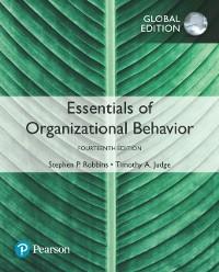 Cover Essentials of Organizational Behavior, Global Edition