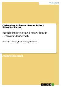 Cover Berücksichtigung von Klimarisiken im Firmenkundenbereich