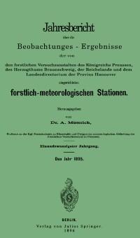 Cover Jahresbericht uber die Beobachtungs-Ergebnisse