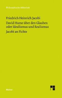 Cover David Hume über den Glauben oder Idealismus und Realismus. Ein Gespräch (1787)