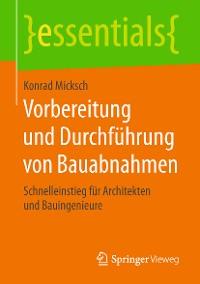 Cover Vorbereitung und Durchführung von Bauabnahmen