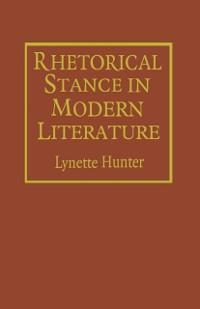 Cover Rhetorical Stance in Modern Literature