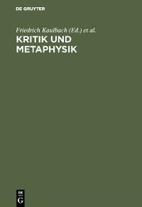 Cover Kritik und Metaphysik