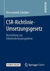 Cover CSR-Richtlinie-Umsetzungsgesetz