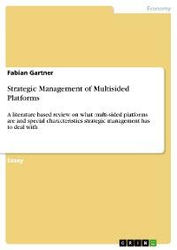 Cover Strategic Management of Multisided Platforms