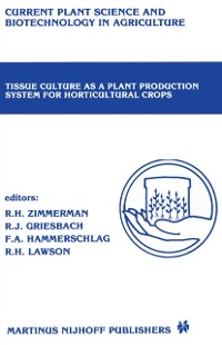 Cover Tissue culture as a plant production system for horticultural crops