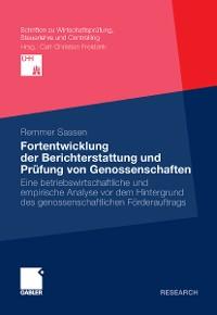 Cover Fortentwicklung der Berichterstattung und Prüfung von Genossenschaften
