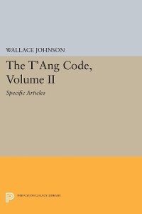 Cover The T'ang Code, Volume II
