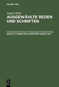 Cover Reden und Schriften 1906 bis 1913