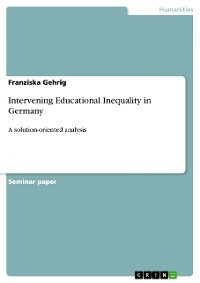 Cover Intervening Educational Inequality in Germany
