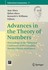 Cover Advances in the Theory of Numbers