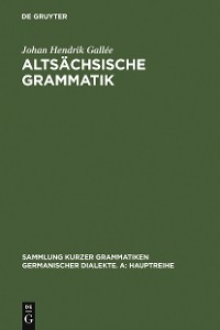 Cover Altsächsische Grammatik