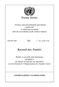 Cover Treaty Series 2948/Recueil des Traités 2948