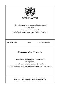 Cover Treaty Series 2995/Recueil des Traités 2995