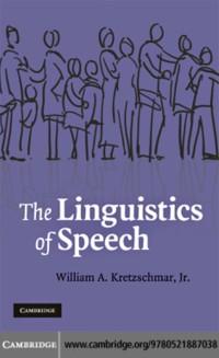 Cover Linguistics of Speech