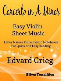 Cover Concerto In A Minor Easy Violin Sheet Music