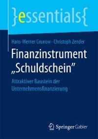 """Cover Finanzinstrument """"Schuldschein"""""""