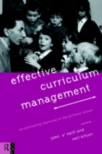 Cover Effective Curriculum Management
