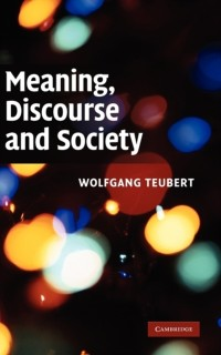 Cover Meaning, Discourse and Society
