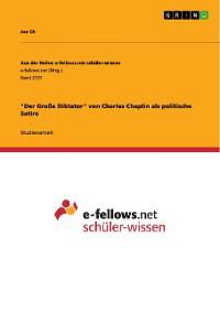 """Cover """"Der Große Diktator"""" von Charles Chaplin als politische Satire"""