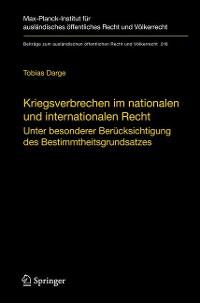 Cover Kriegsverbrechen im nationalen und internationalen Recht