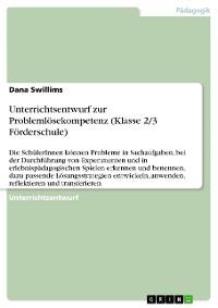 Cover Unterrichtsentwurf zur Problemlösekompetenz (Klasse 2/3 Förderschule)