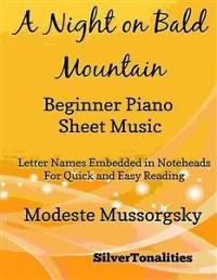 Cover A Night on Bald Mountain Beginner Piano Sheet Music