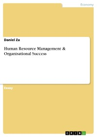 Cover Human Resource Management & Organisational Success