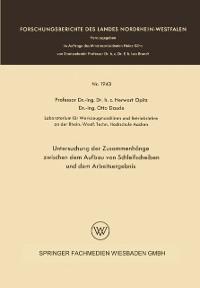 Cover Untersuchung der Zusammenhange zwischen dem Aufbau von Schleifscheiben und dem Arbeitsergebnis