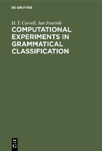 Cover Computational Experiments in Grammatical Classification