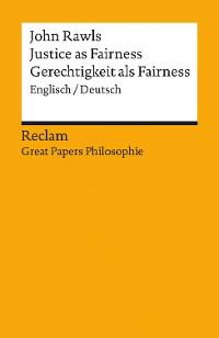 Cover Justice as Fairness / Gerechtigkeit als Fairness (Englisch/Deutsch)