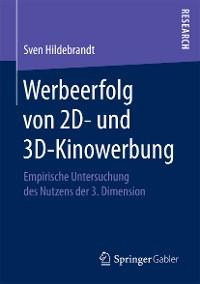 Cover Werbeerfolg von 2D- und 3D-Kinowerbung