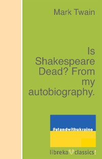 Cover Is Shakespeare Dead? From my autobiography.