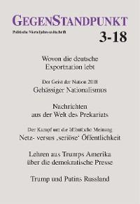 Cover GegenStandpunkt 3-18