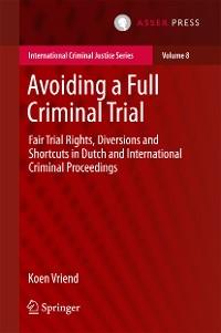 Cover Avoiding a Full Criminal Trial