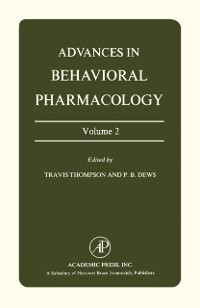 Cover Advances in Behavioral Pharmacology
