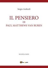 Cover IL PENSIERO DI PAUL MATTHEWS VAN BUREN - volumetto 2
