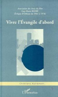 Cover VIVRE L'EVANGILE D'ABORD