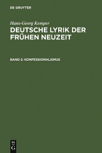 Cover Konfessionalismus