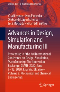 Cover Advances in Design, Simulation and Manufacturing III