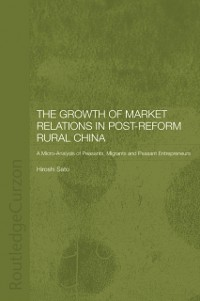 Cover Growth of Market Relations in Post-Reform Rural China