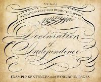 Cover Spencerian Penmanship Practice Book: The Declaration of Independence