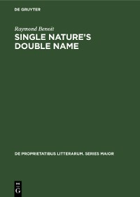 Cover Single nature's double name