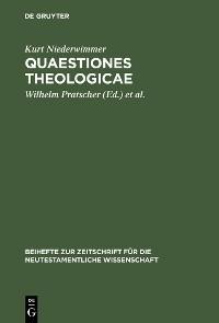 Cover Quaestiones theologicae