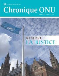 Cover Chronique ONU Vol. XLIX No.4 2012