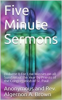 Cover Five Minute Sermons, Volume I.