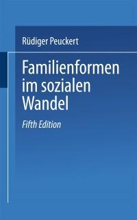Cover Familienformen im sozialen Wandel