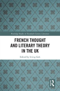 Cover French Thought and Literary Theory in the UK